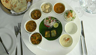Trident Udaipur, Special Thali