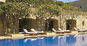 Swimming Pool at Trident Five Star Hotel in Gurgaon